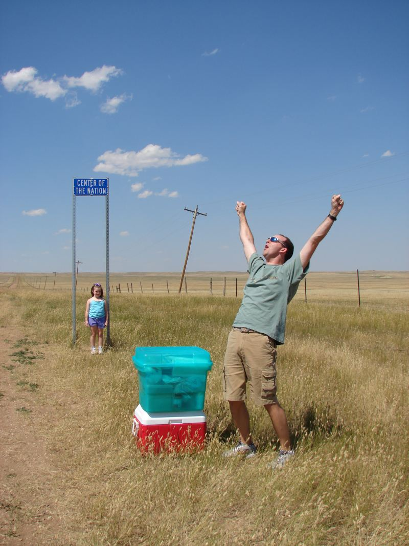 Steve celebrates finally making it to the Center of our ...
