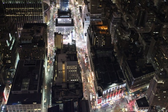 View of Macys from above.