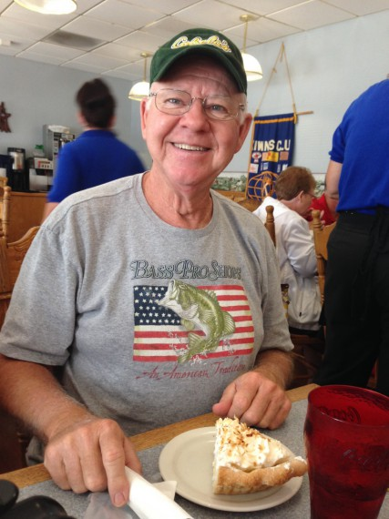 KK and his larger-than-average slice of coconut cream pie.
