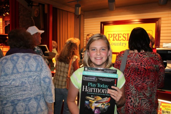 Marissa and her new harmonica