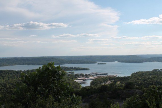 Great views of Table Rock Lake from the Duck