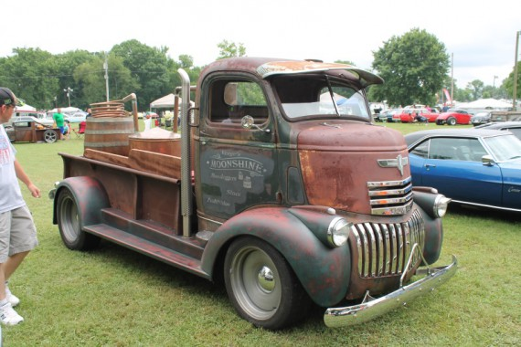 1944 Chevy Moonshine Truck. This truck was at our breakfast spot this morning.