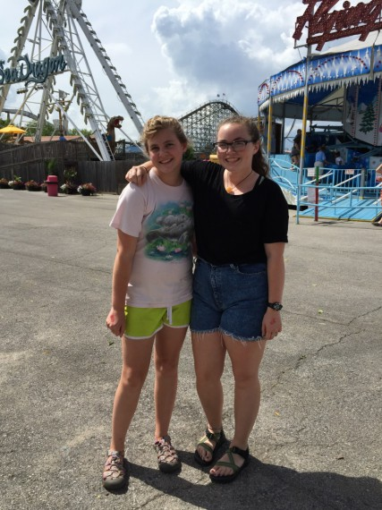 Marissa and Mallory at the Beech Bend Amusement Park.