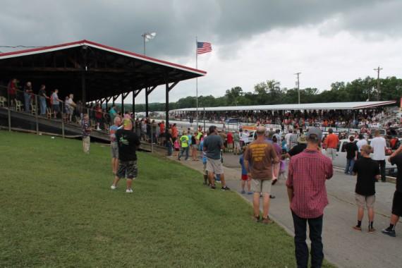 National Anthem at the Beech Bend Raceway.