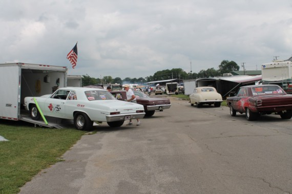 Most all of the cars racing were family affairs.  Mom & Pop racing.  Here is a picture of the pit area.