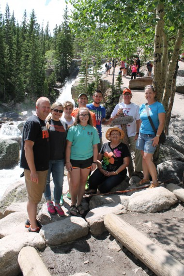 Family at Alberta Falls