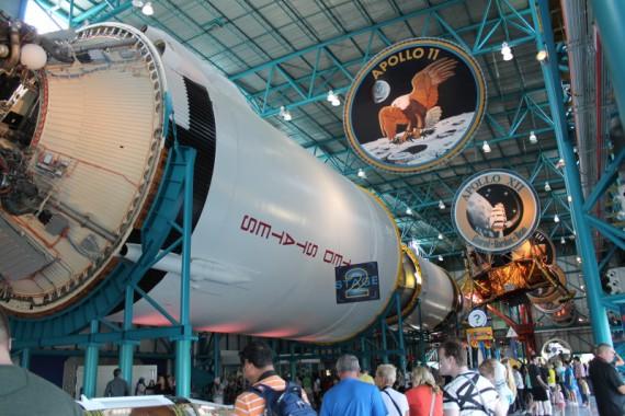 The Saturn V rocket.