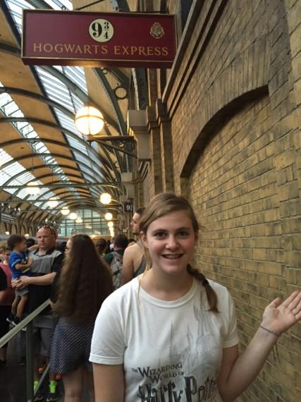 Marissa at Platform 9 3/34.