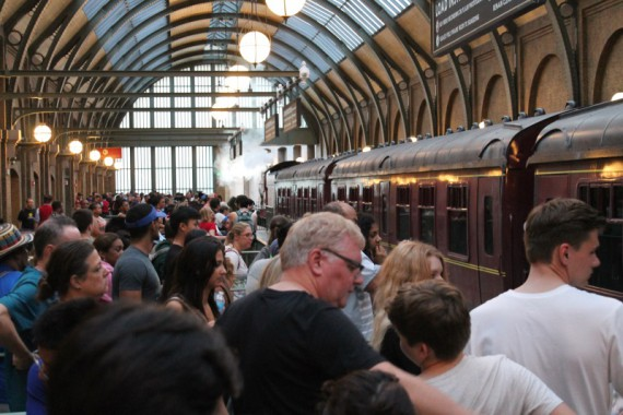 The Hogwarts express at King's Cross Station