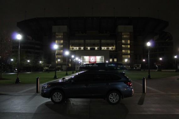 The Subaru visits its first SEC stadium.
