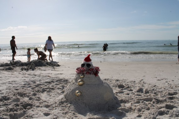 Christmas Sandman.  (We didn't make this, but had to take a picture.)