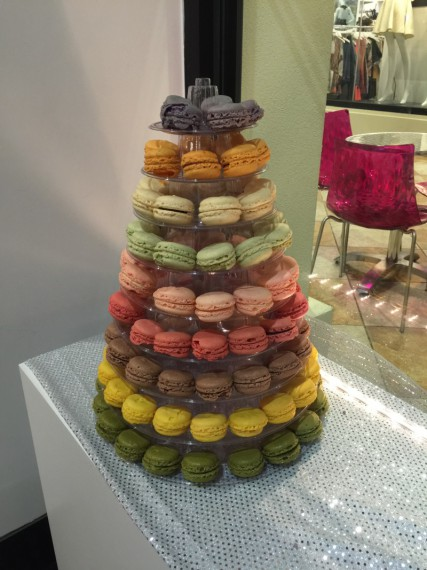 A tasteful display of macarons. Looking FWD to eating some of these soon!
