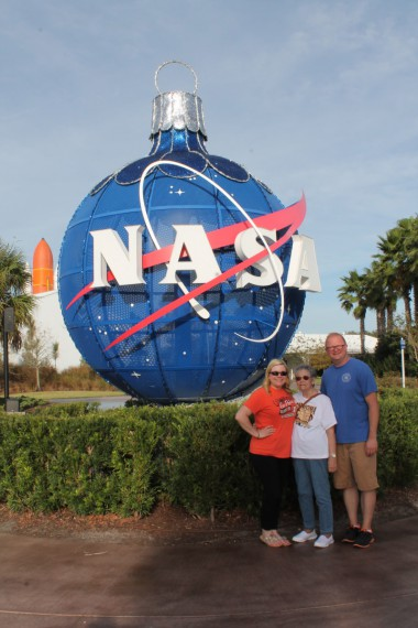 Scott, Erin and Grandma Mary at Kennedy Space Center