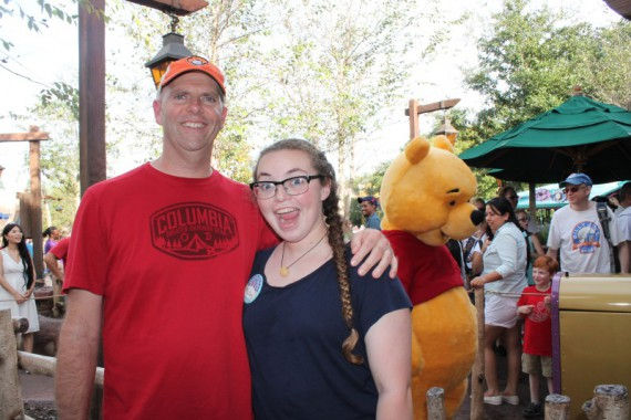 "Steve and Mallory ""with"" Winnie the Pooh"