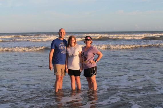 Stephanie, Marissa and I enjoying the surf