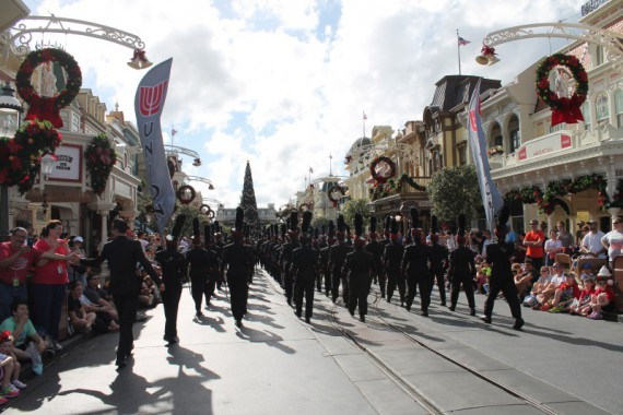 Renegade Regiment marching down Main Street USA.