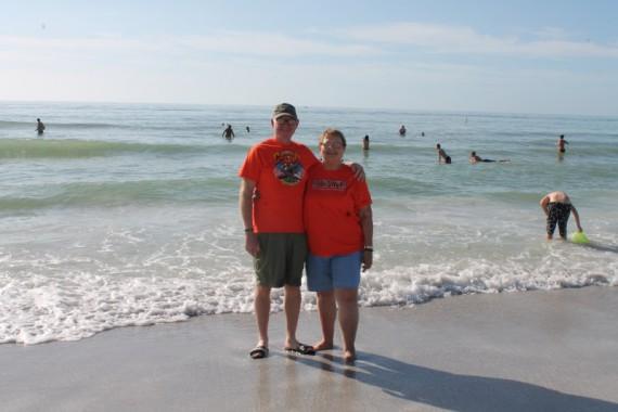 KK and PK at the Beach