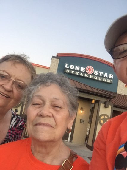 KK, PK and Grandma Mary at Lone Star!