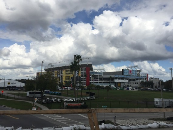 The Citrus Bowl is very prominent in downtown Orlando.