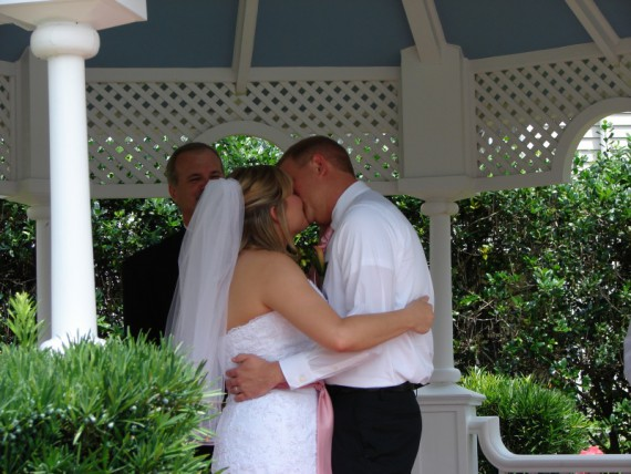 Scott and Erin's original magical Wedding Day kiss