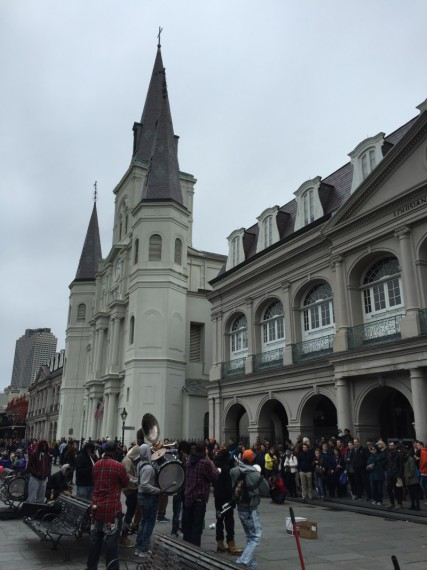 This band attracted quite a crowd at Jackson Square.