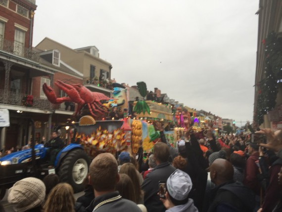 People were stacked up pretty deep along the parade route.