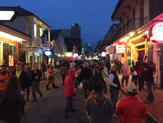 Walking through the French Quarter