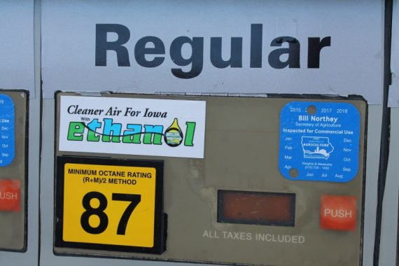 This is the first pro-ethanol sticker at the pump I have ever seen.