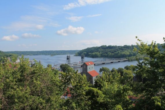 "The St. Croix River and Stillwater's distinctive ""Lift Bridge"""