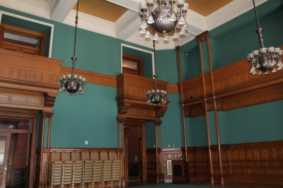 Federal Courtroom with balconies.