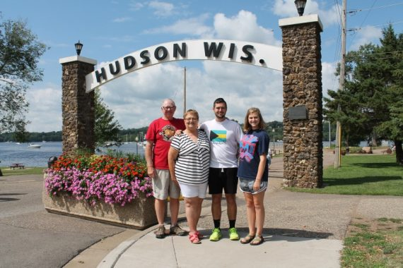 KK, PK, Miles and Marissa in Hudson Wisconsin