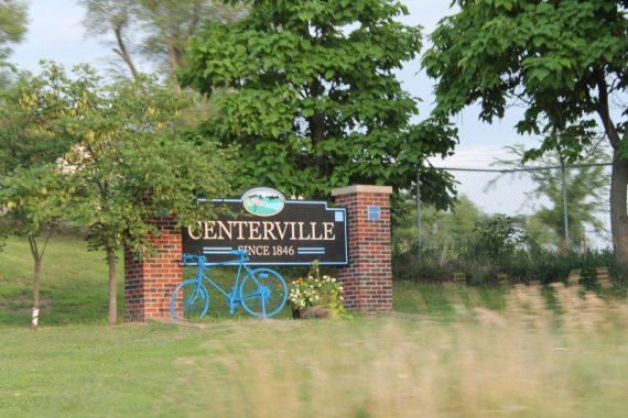 Centerville sign.