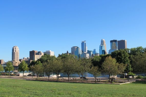 View of River and Minneapolis from the Park