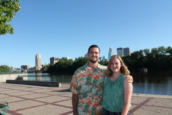 Miles and Marissa on the riverfront